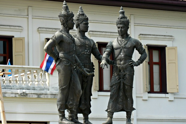 James Preston, Three Kings Monument, Chiang Mai, via Flickr CC BY 2.0